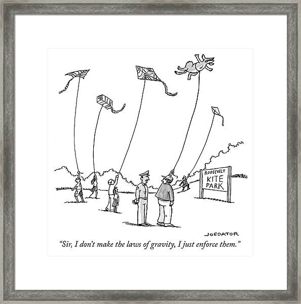 The Laws Of Gravity Framed Print