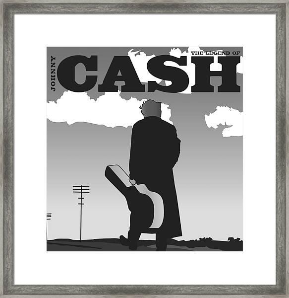 The Legend Of Johnny Cash Framed Print