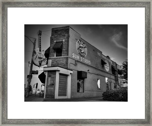 Framed Print featuring the photograph The Legendary Sun Studio 001 Bw by Lance Vaughn