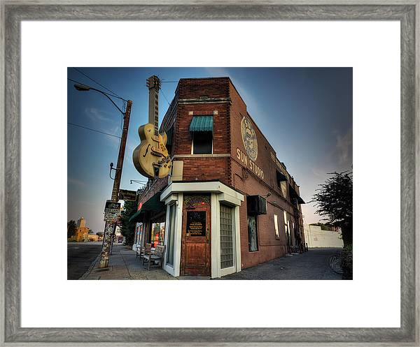 Framed Print featuring the photograph The Legendary Sun Studio 002 by Lance Vaughn