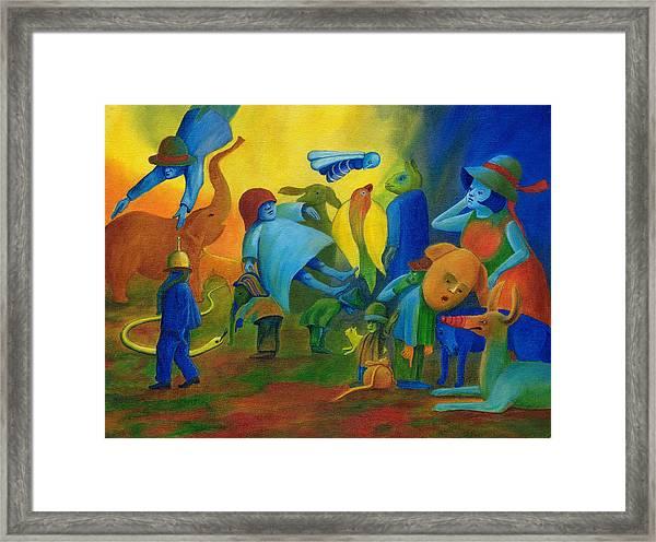 The Levitation. Framed Print