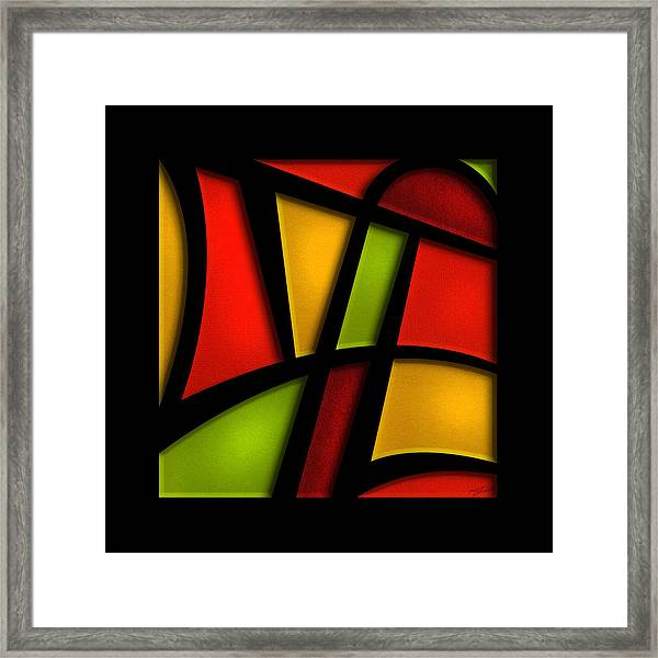 Framed Print featuring the mixed media The Life - Abstract by Shevon Johnson