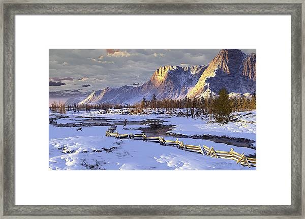 The Life Of Snow Framed Print