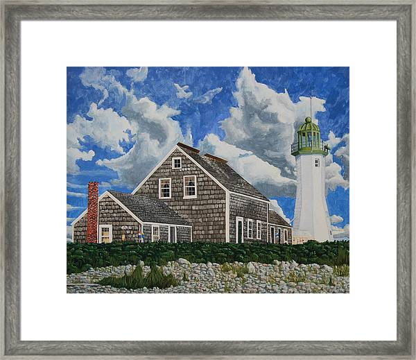 Framed Print featuring the painting The Light Keeper's House by Dominic White