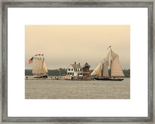 The Lighthouse At Rockland Framed Print