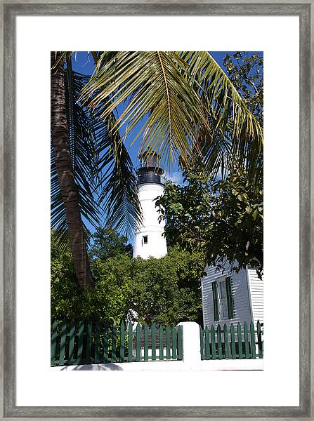 The Lighthouse In Key West II Framed Print