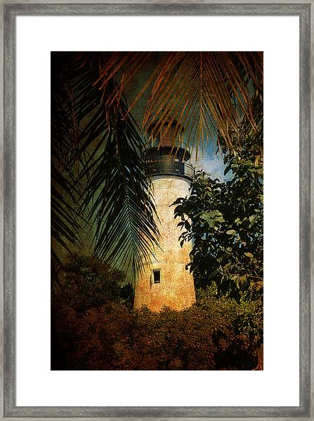 The Lighthouse In Key West Framed Print