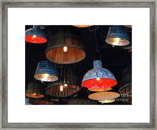 The Lights Above Framed Print