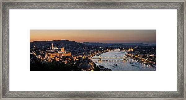 The Lights Of Budapest Framed Print by Thomas D Morkeberg