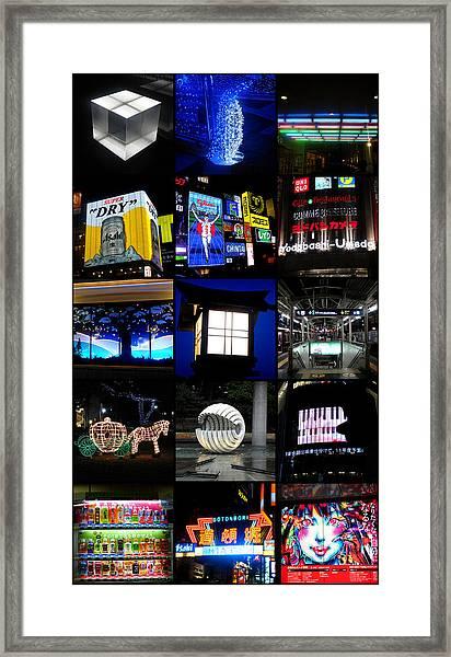 The Lights Of Japan Framed Print
