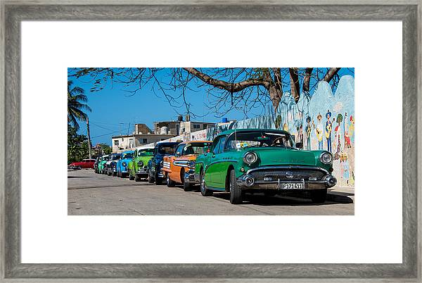 The Lineup Framed Print