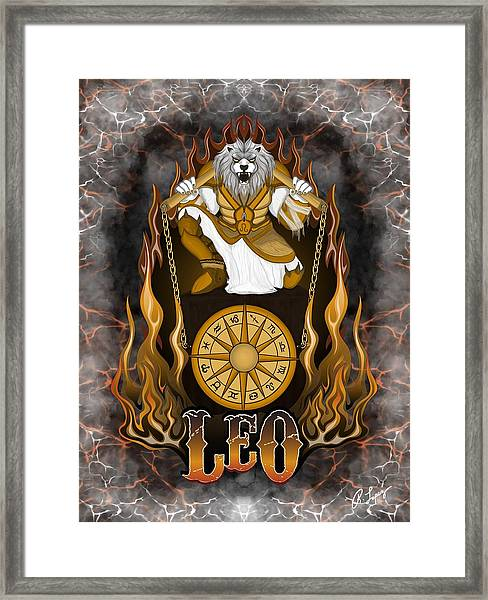 The Lion Leo Spirit Framed Print