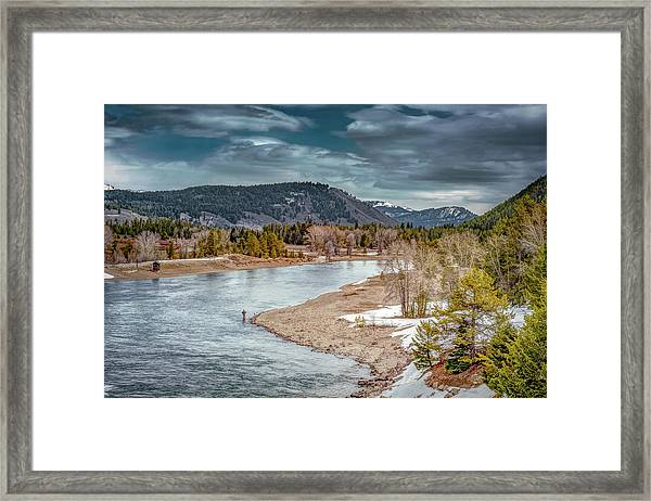 The Little Fisherman Framed Print