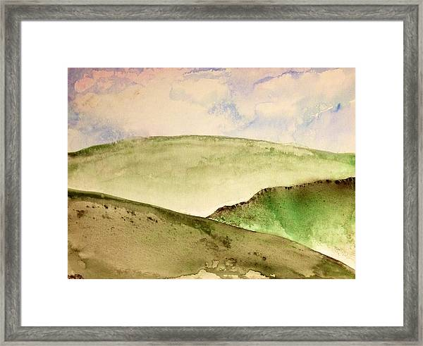Framed Print featuring the painting The Little Hills Rejoice by Antonio Romero