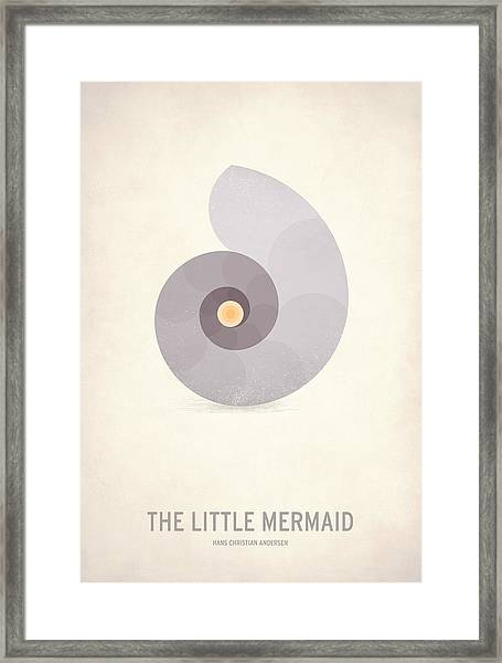 The Little Mermaid Framed Print by Christian Jackson
