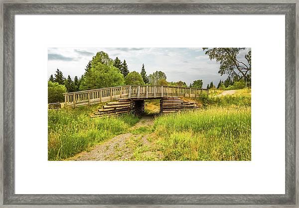 The Little Wooden Bridge Framed Print