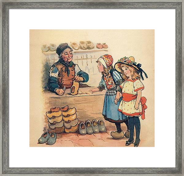 The Little Wooden Shoe Maker Framed Print