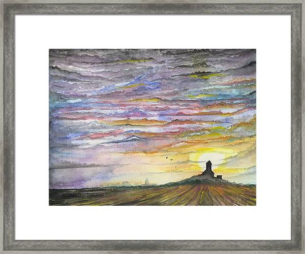 The Living Sky Framed Print