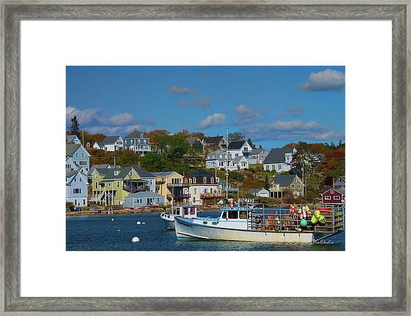 The Lobsterman's Shop Framed Print