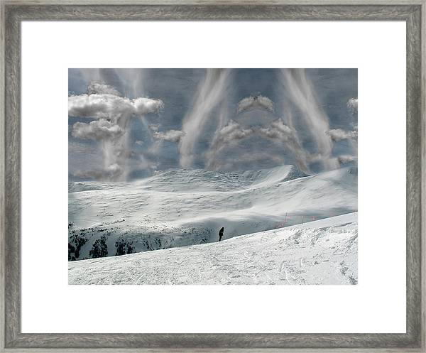 The Lone Boarder Framed Print
