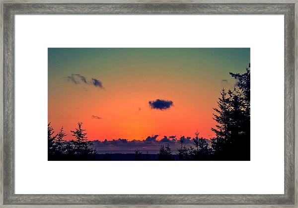 The Loner Cloud Framed Print
