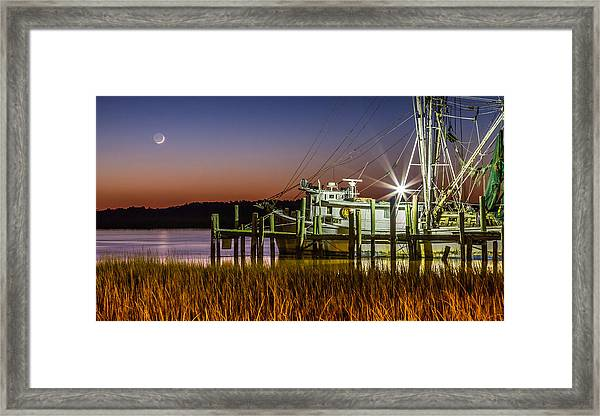 The Low Country Way - Folly Beach Sc Framed Print