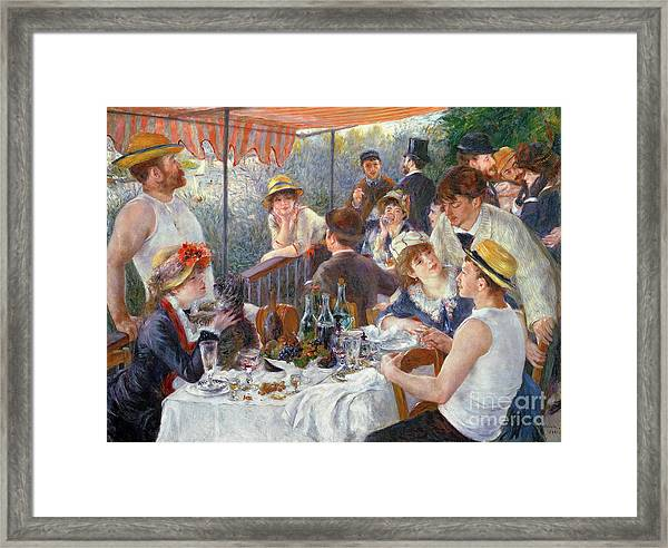 The Luncheon Of The Boating Party Framed Print