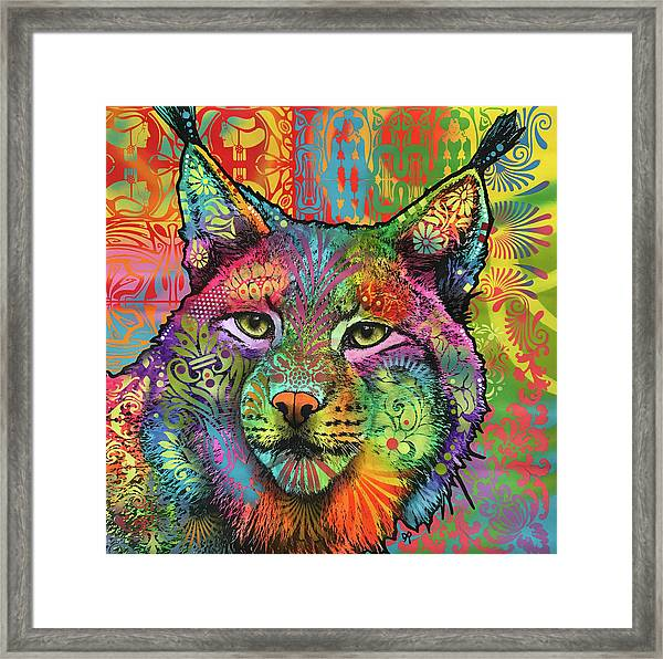 The Lynx Framed Print by Dean Russo Art