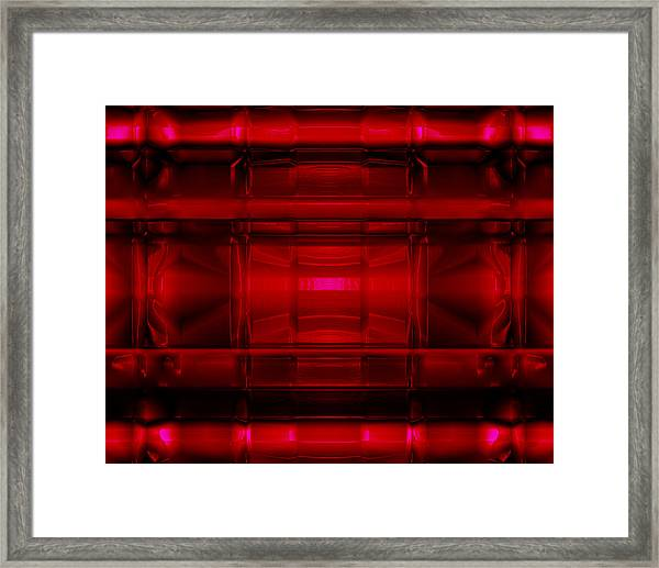 The Machine Red Framed Print