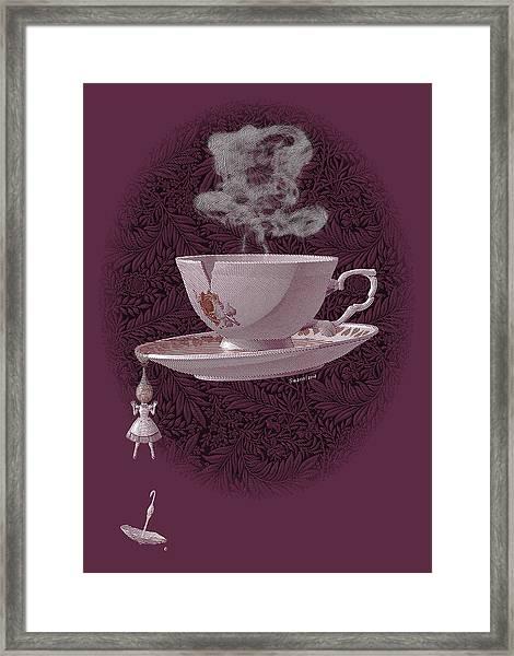 The Mad Teacup - Rose Framed Print