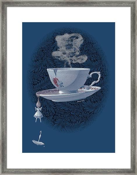 The Mad Teacup - Royal Framed Print