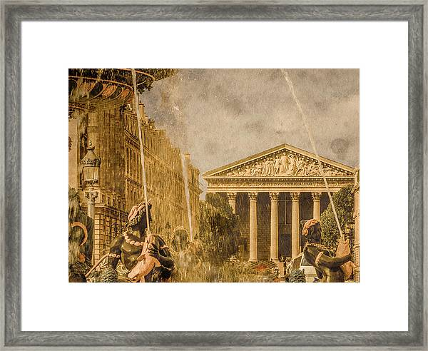 Framed Print featuring the photograph Paris, France - The Madeleine by Mark Forte