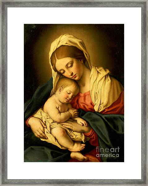 The Madonna And Child Framed Print