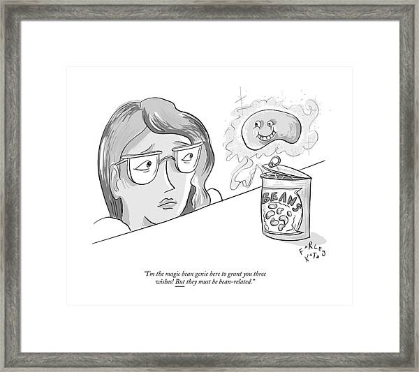 The Magic Bean Genie Framed Print