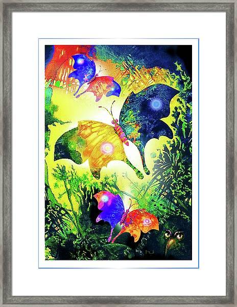 The Magic Of Butterflies Framed Print