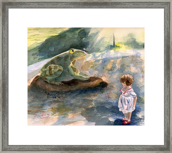 The Magical Giant Frog Framed Print
