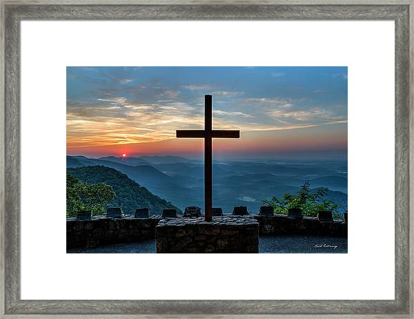 The Magnificent Cross Pretty Place Chapel Greenville Sc Great Smoky Mountains Art Framed Print