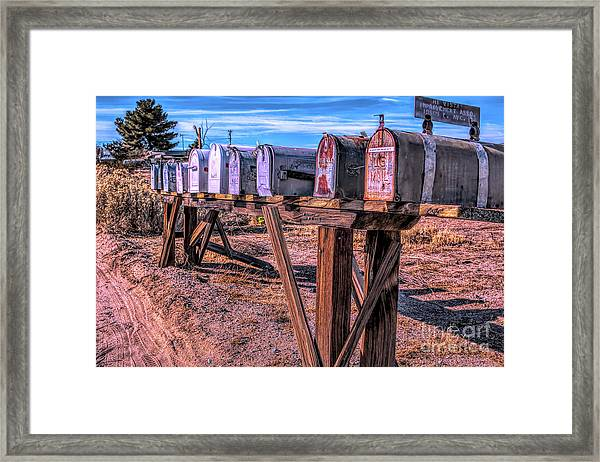 The Mailboxes Framed Print