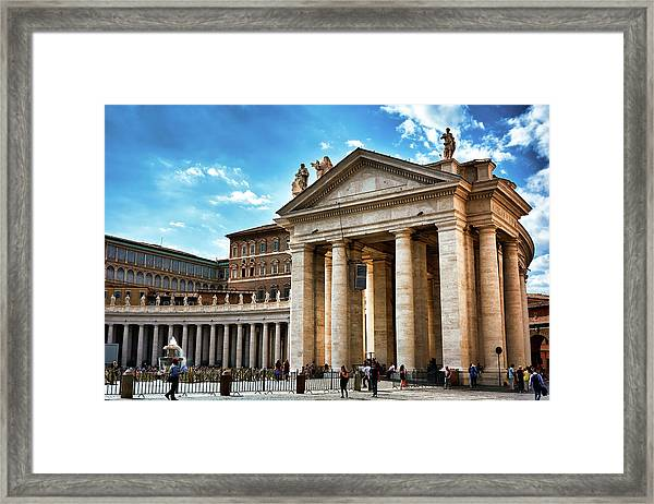 The Majesty Of The Tuscan Colonnades Framed Print