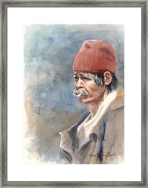The Man On The Street Framed Print