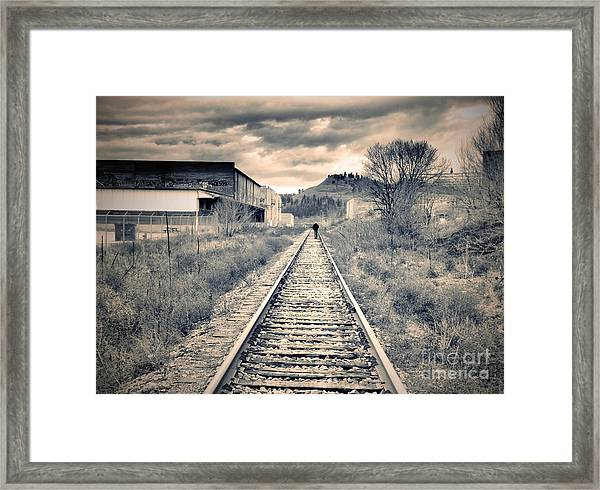 The Man On The Tracks Framed Print