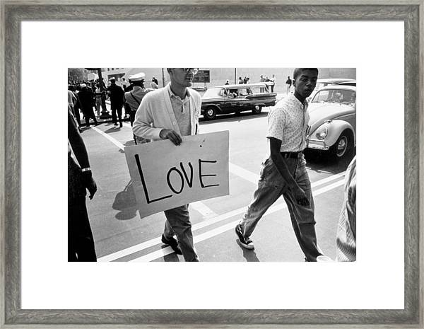 The March On Washington   Love Framed Print