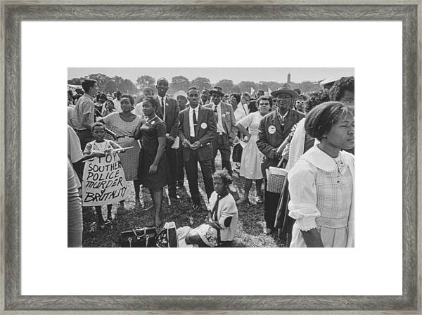 The March On Washington  Washington Monument Grounds Framed Print