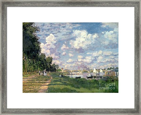 The Marina At Argenteuil Framed Print