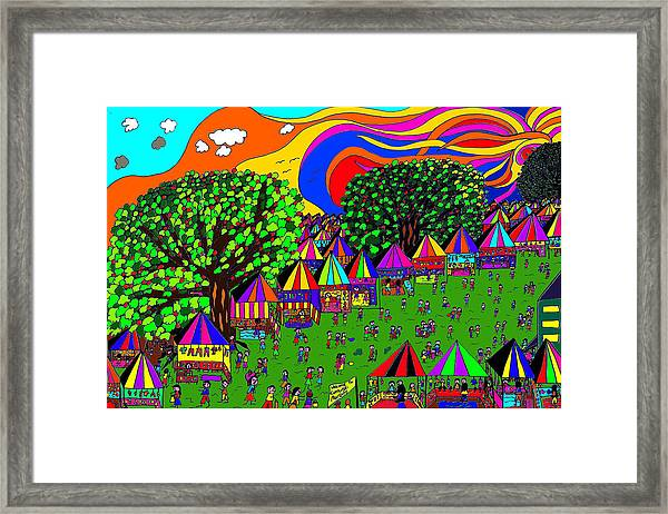 The Markets Framed Print