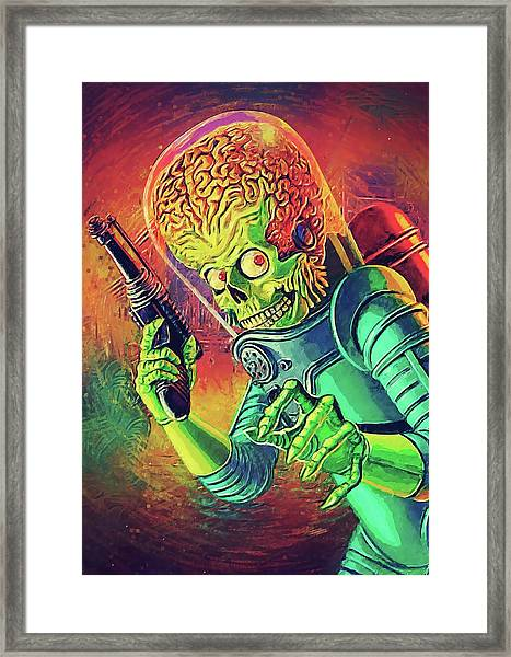 The Martian - Mars Attacks Framed Print