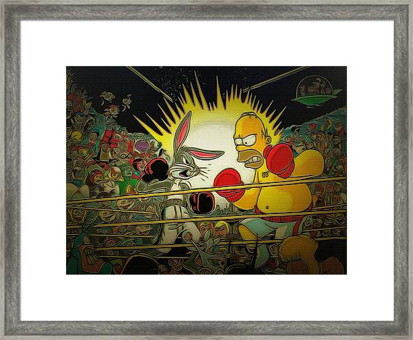The Match Of The Century Framed Print