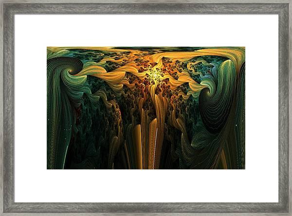 The Melting Earth Framed Print