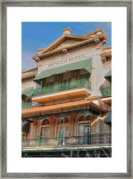 The Menger Hotel In Hdr Framed Print