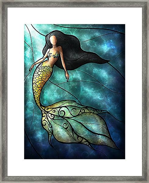 The Mermaid Framed Print